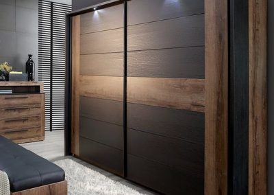 Sliding Wooden Wardrobe Design